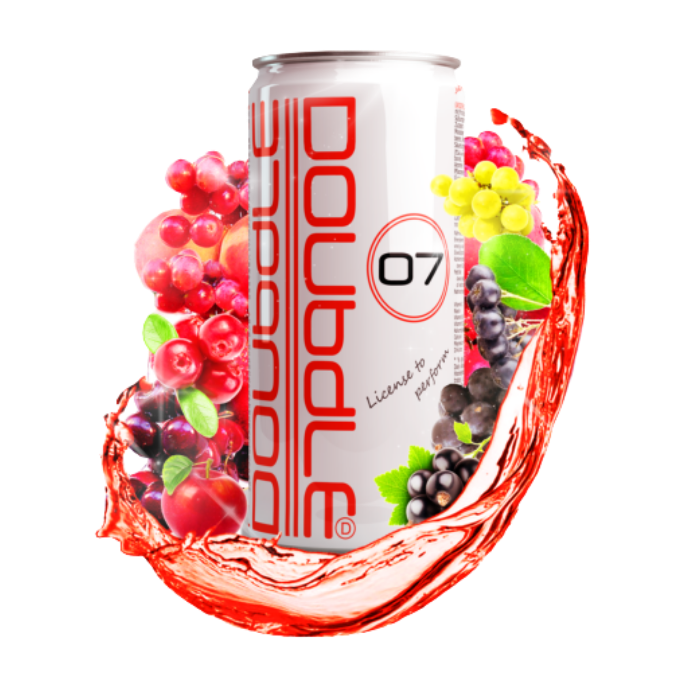 Doubdle with fruity background